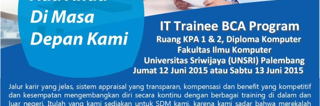 Program Campus Hiring sekaligus Rekruitmen IT Trainee BCA