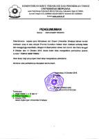 pengumuman Rektor Unsri