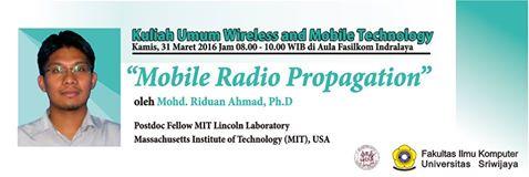 [Short Talk] Dr. Mohd. Riduan Ahmad