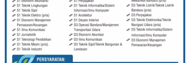 [Vacancy] PT. Angkasa Pura