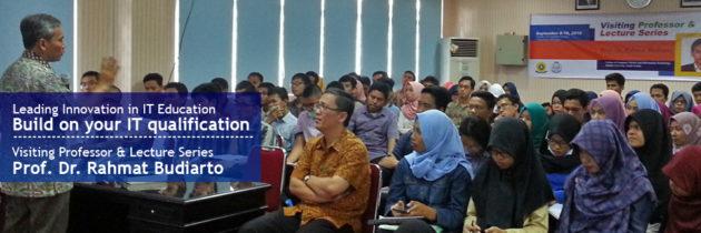 [Short Talk] Prof. Dr. Rahmat Budiarto