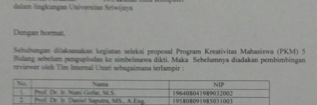 Program Kreativitas 5 Bidang