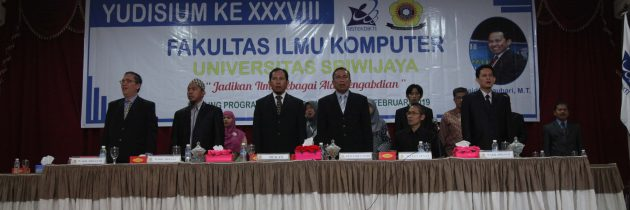 Yudisium Ke 38 Fakultas Ilmu Komputer Universitas Sriwijaya