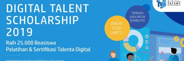 Pendaftaran Digital Talent Scholarship 2019