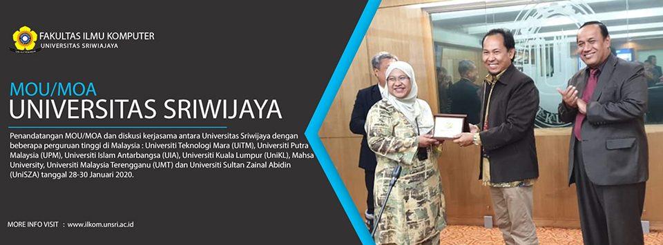 Penandatangan MOU/MOA dan diskusi kerjasama antara Universitas Sriwijaya dengan beberapa perguruan tinggi di Malaysia