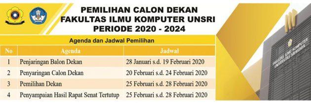 Pemilihan Calon Dekan Fakultas Ilmu Komputer 2020