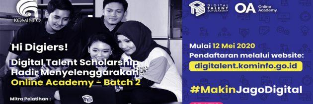Digital Talent Scholarship (DTS) 2020